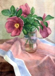 Chuvashov-flower-piece-watercolour