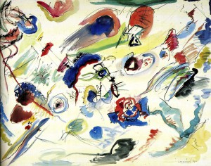 "V. V. Kandinsky. ""First abstract watercolour"" of 1910"
