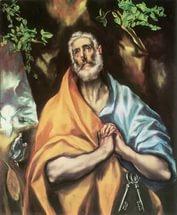 Эль Греко. Кающаяся Петр, 1600